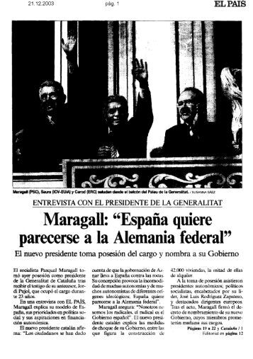EL PAIS - Pasqual Maragall