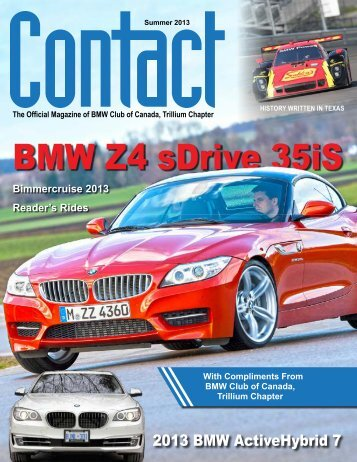 Contact Summer 2013 - BMW Club of Canada, Trillium Chapter