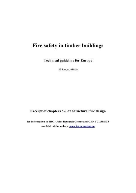Fire safety in timber buildings - Eurocodes - Europa