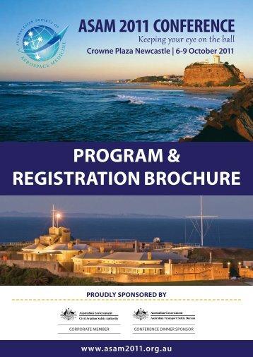 Program & Registration Brochure - ASAM 2011
