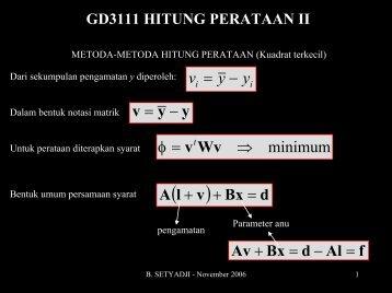 gd3111 hitung perataan ii