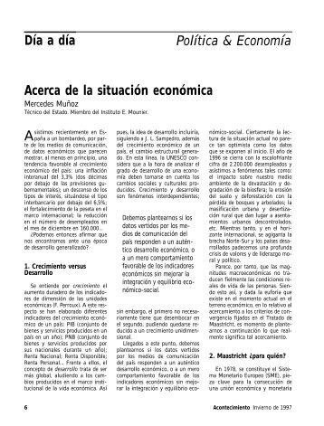 Día a día Política & Economía Acerca de la situación económica