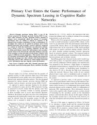 Primary User Enters the Game: Performance of Dynamic Spectrum ...