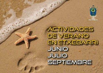 actividades de verano en etxebarri junio julio septiembre