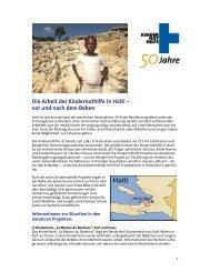 Die Arbeit der Kindernothilfe in Haiti – vor und nach dem Beben