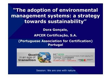 """""""The adoption of environmental management systems: a ... - EOQ"""