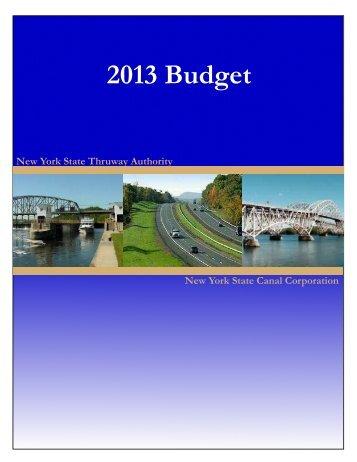 2013 Budget Book - New York State Thruway