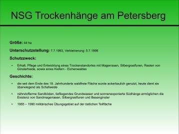 NSG Trockenhänge am Petersberg - Naturpark Sternberger Seenland