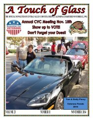 Central Valley Corvettes - November 2014 Magazine