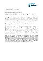 Presseinformation – 04. Juni 2008 primeMail erzielt neues ...