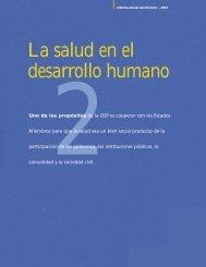 La salud en el desarrollo humano - Fundación UNIDA