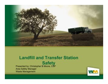 Landfill and Transfer Station Safety