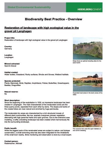 47.Restoration gravel pit langhagen - The quarry life award
