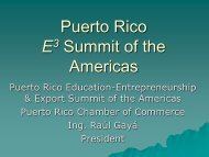 Puerto Rico E3 Summit of the Americas - Cámara de Comercio de ...