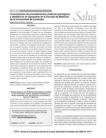 Revista Salus Vol 12_No 1.indd - Portal de Revistas Electrónicas ...