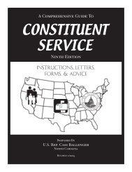 Sample Constituent Services Manual - Congressional Management ...