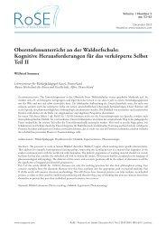 Oberstufenunterricht an der Waldorfschule - European Council for ...