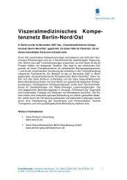 Viszeralmedizinisches Kompe- tenznetz Berlin-Nord/Ost