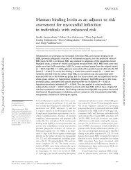 Mannan binding lectin as an adjunct to risk assessment for ... - Hirsla