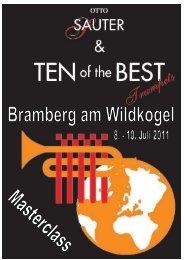 Programmheft Ten of the Best - jugend@ooe-bv.at