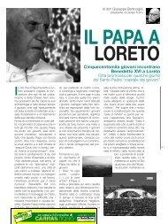 Il papa a Loreto di Don Giuseppe Bentivoglio - Caritas Ticino