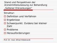 Vortrag Prof. Dr. Alfred Hildebrandt - GlaxoSmithKline