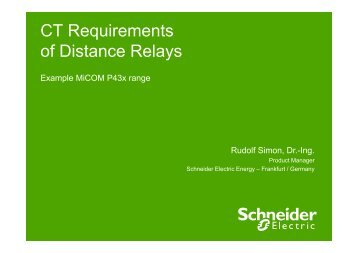 CT Requirements of Distance Relays - cigre