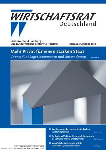 Ausgabe Oktober 2012 8,61 MB - PDF - Wirtschaftsrat der CDU e.V.