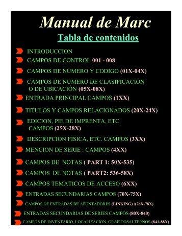 Manual de Marc - Biblioteca Central