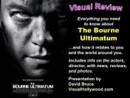 The Bourne Ultimatum - Visual Hollywood