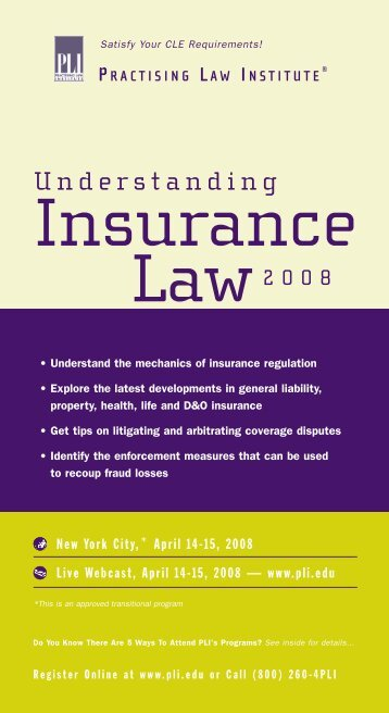 Practising Law Institute's Understanding Insurance ... - Reed Smith