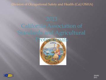 2013 California Association of Standards and Agricultural ... - CASAP