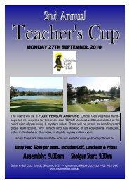 2010 Teacher's Cup Entry Form .pub - Gisborne Golf Club