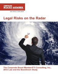 Legal Risks on the Radar - FTI Consulting