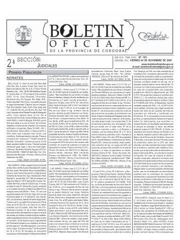 SECCIÓN: - Boletín Oficial de la Provincia de Córdoba
