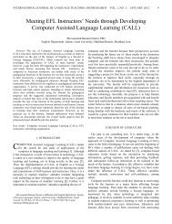 Needs through Developing Computer Assisted Language Learning