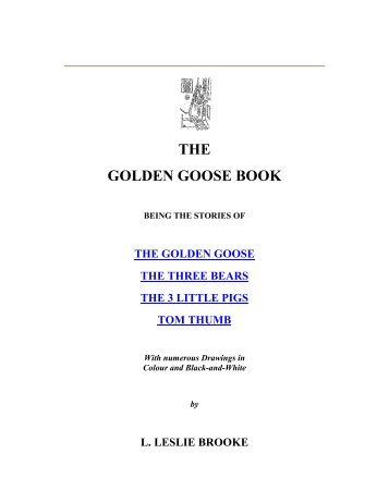 THE GOLDEN GOOSE BOOK - Yesterday Image