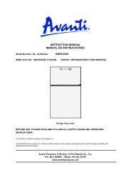 INSTRUCTION MANUAL MANUAL DE ... - Avanti Products