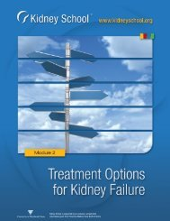 Treatment Options for Kidney Disease - The End Stage Renal ...