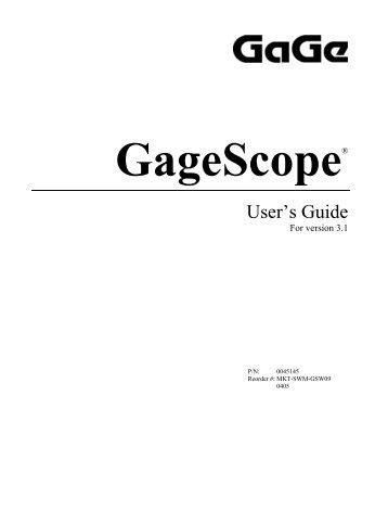 GageScope - Egmont Instruments