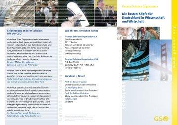 German Scholars Organization S CHOL ARS