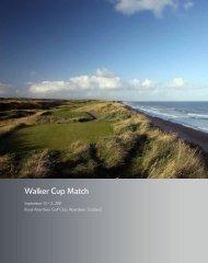 Walker Cup Match - USGA