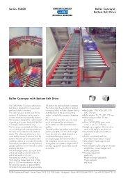 Series 55000 Roller Conveyor, Bottom Belt Drive Roller Conveyor ...