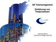 AK Testmanagement Einführung von Testprozessen - CC GmbH