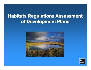 Habitats Regulations Assessment of Development Plans - Institute of ...