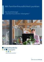Broschüre zum Qualitätssiegel Familienfreundlicher Arbeitgeber (PDF)