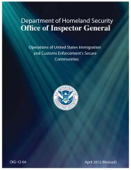 Operations of United States Immigration and Customs Enforcement's ...