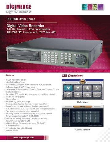 DHU600 Spec Sheet - JMAC Supply