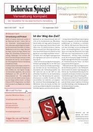 Behörden Spiegel – Verwaltung kompakt