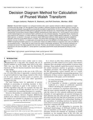 Decision diagram method for calculation of pruned ... - IEEE Xplore